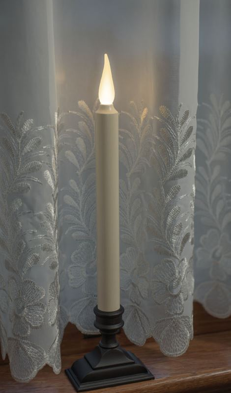 Affinity Warm White Jumping Flame Taper Candle Xodus